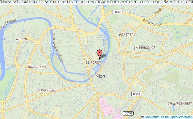 plan association Association Des Parents D'eleves De L'enseignement Libre (apel) De L'ecole Ste Therese St Andre De Niort