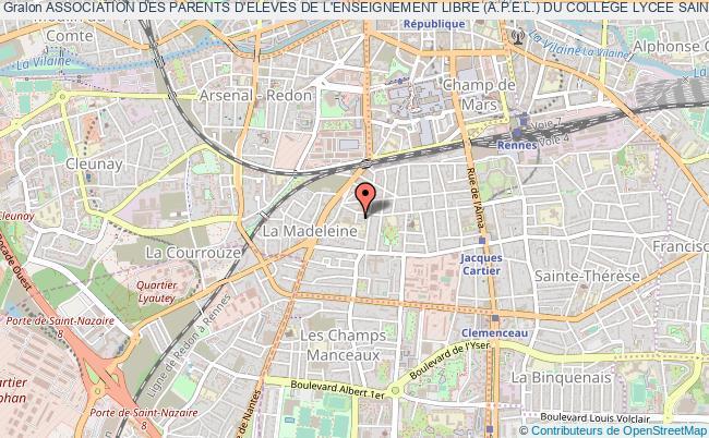 plan association Association Des Parents D'eleves De L'enseignement Libre (a.p.e.l.) Du College Lycee Sainte Genevieve