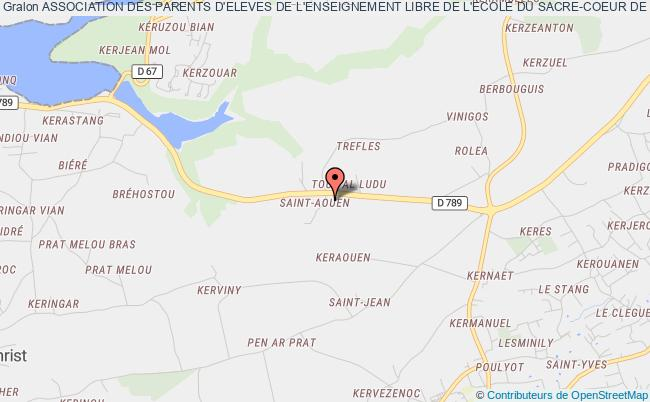 plan association Association Des Parents D'eleves De L'enseignement Libre De L'ecole Du Sacre-coeur De Plougonvelin