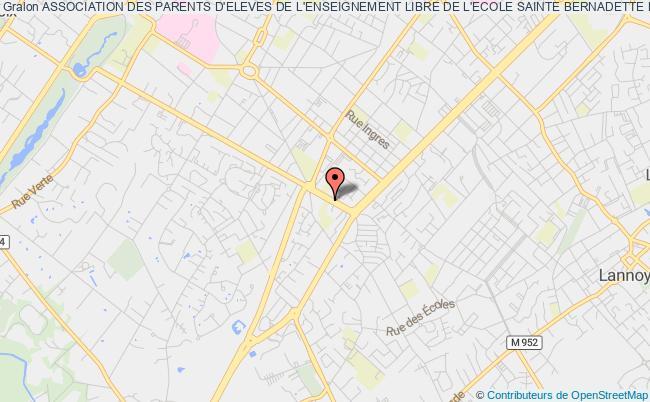 plan association Association Des Parents D'eleves De L'enseignement Libre De L'ecole Sainte Bernadette Maternelle Et Primaire Roubaix