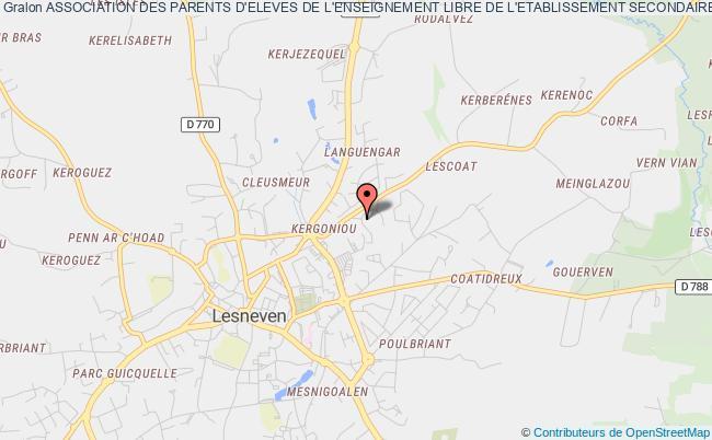 plan association Association Des Parents D'eleves De L'enseignement Libre De L'etablissement Secondaire Saint-francois Notre-dame