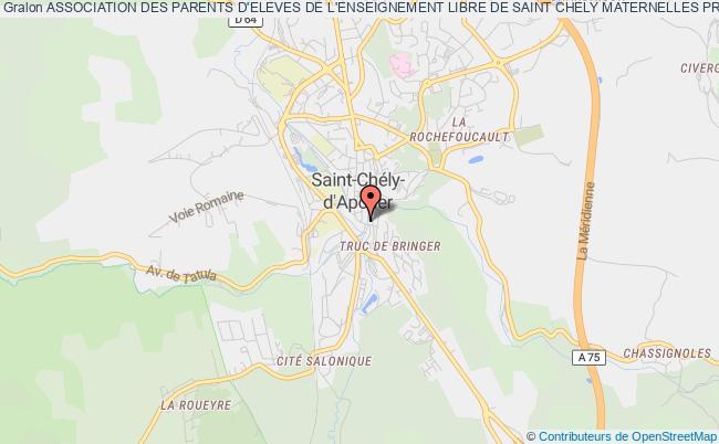plan association Association Des Parents D'eleves De L'enseignement Libre De Saint Chely Maternelles Primaires College