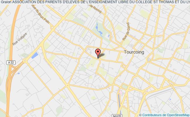 plan association Association Des Parents D'eleves De L'enseignement Libre Du College St Thomas Et Du Lycee Sacre Coeur De Tourcoing