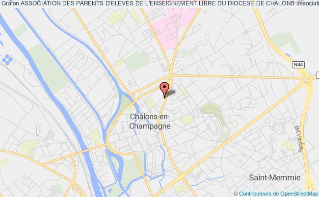 plan association Association Des Parents D'eleves De L'enseignement Libre Du Diocese De Chalons