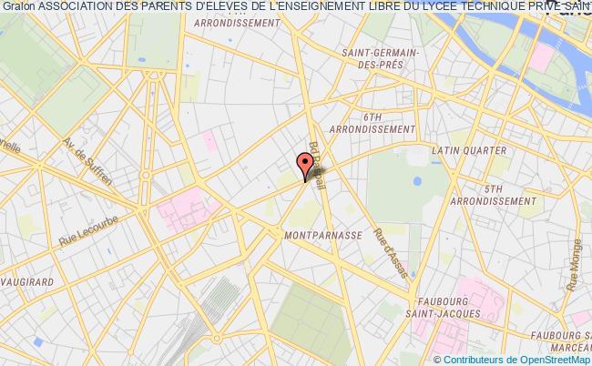 plan association Association Des Parents D'eleves De L'enseignement Libre Du Lycee Technique Prive Saint Nicolas Paris