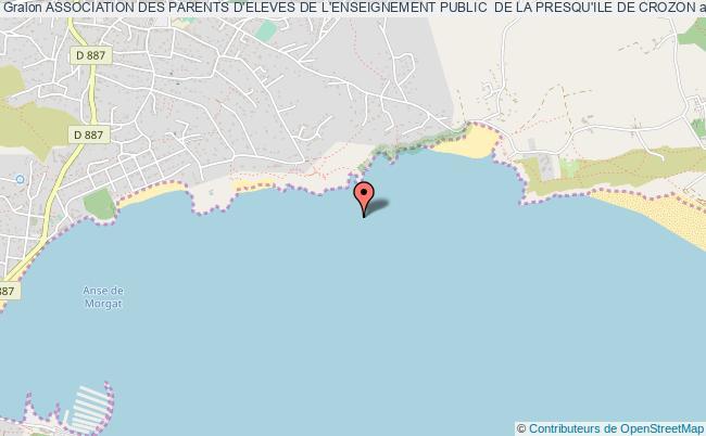 plan association Association Des Parents D'eleves De L'enseignement Public  De La Presqu'ile De Crozon