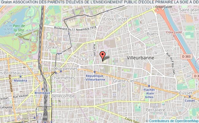plan association Association Des Parents D'ÉlÈves De L'enseignement Public D'École Primaire La Soie À DÉcines (association Peep De L'École Primaire La Soie - DÉcines)