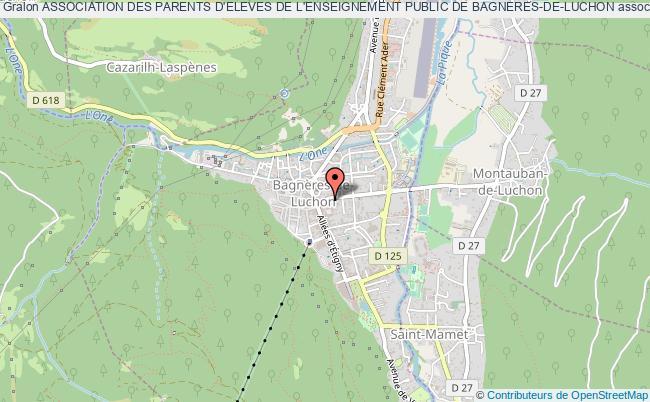 plan association Association Des Parents D'eleves De L'enseignement Public De Bagneres-de-luchon Bagnères-de-Luchon