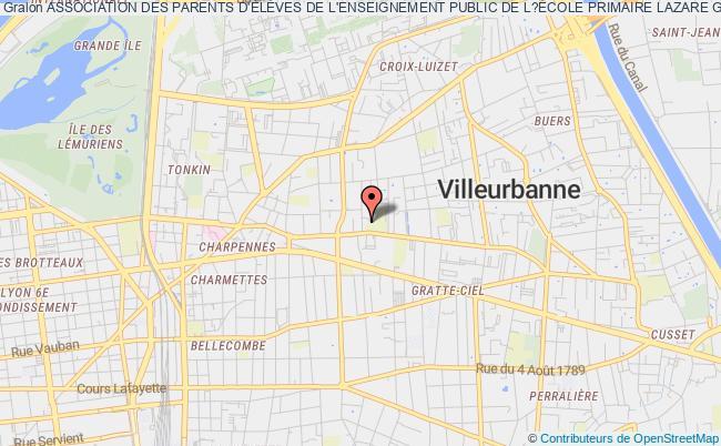 plan association Association Des Parents D'ÉlÈves De L'enseignement Public De L?École Primaire Lazare Goujon A Villeurbanne