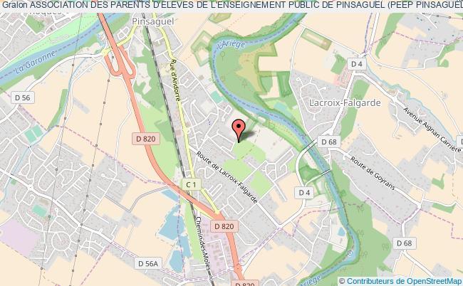 plan association Association Des Parents D'eleves De L'enseignement Public De Pinsaguel (peep Pinsaguel)