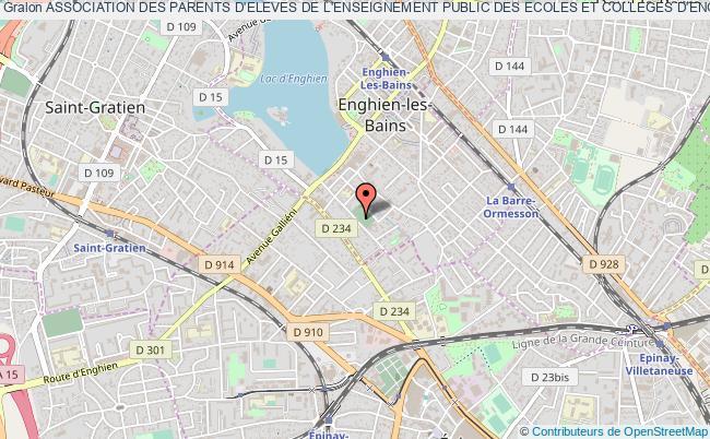 plan association Association Des Parents D'eleves De L'enseignement Public Des Ecoles Et Colleges D'enghien Les Bains