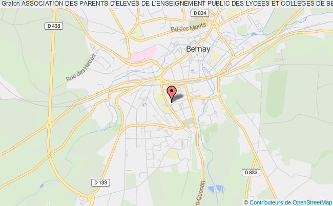 plan association Association Des Parents D'eleves De L'enseignement Public Des Lycees Et Colleges De Bernay