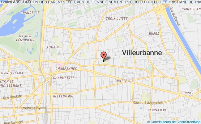 plan association Association Des Parents D'eleves De L'enseignement Public Du College Christiane Bernardin - Francheville