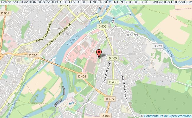 plan association Association Des Parents D'eleves De L'enseignement Public Du Lycee  Jacques Duhamel Dole