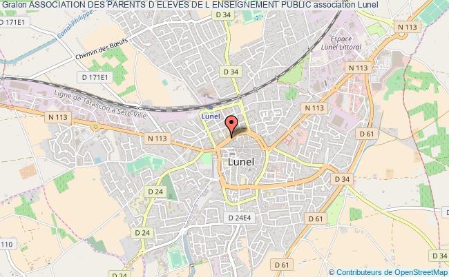 plan association Association Des Parents D Eleves De L Enseignement Public