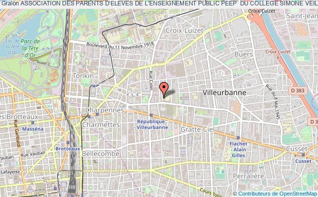 plan association Association Des Parents D'eleves De L'enseignement Public Peep  Du College Simone Veil - Chatillon D'azergues (association Peep Du College Simone Veil - Chatillon D'azergues)