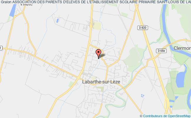plan association Association Des Parents D'eleves De L'etablissement Scolaire Primaire Saint-louis De Labarthe Sur Leze
