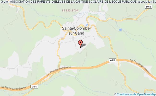 plan association Association Des Parents D'eleves De La Cantine Scolaire De L'ecole Publique Sainte-Colombe-sur-Gand