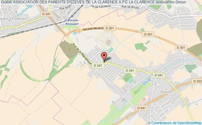 plan association Association Des Parents D'eleves De La Clarence A.p.e La Clarence