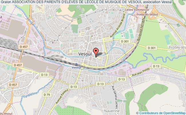 plan association Association Des Parents D'ÉlÈves De LÉcole De Musique De Vesoul Vesoul