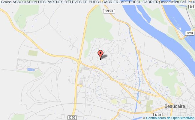 plan association Association Des Parents D'eleves De Puech Cabrier (ape Puech Cabrier)