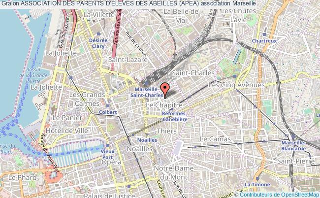 plan association Association Des Parents D'eleves Des Abeilles (apea) Marseille