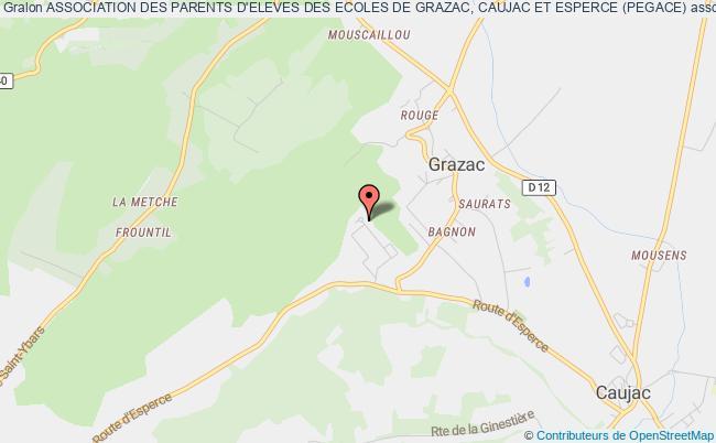 plan association Association Des Parents D'eleves Des Ecoles De Grazac, Caujac Et Esperce (pegace) Grazac