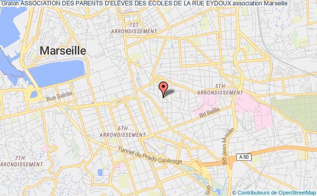 plan association Association Des Parents D'elÈves Des Écoles De La Rue Eydoux Marseille 6