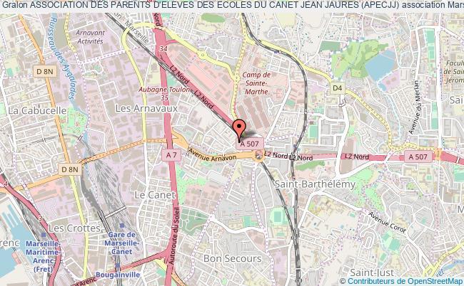 plan association Association Des Parents D'eleves Des Ecoles Du Canet Jean Jaures (apecjj) Marseille