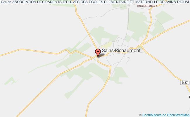 plan association Association Des Parents D'eleves Des Ecoles Elementaire Et Maternelle De Sains-richaumont