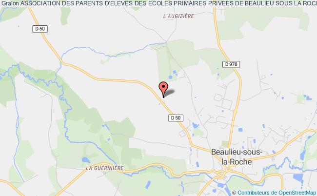 plan association Association Des Parents D'eleves Des Ecoles Primaires Privees De Beaulieu Sous La Roche Beaulieu-sous-la-Roche