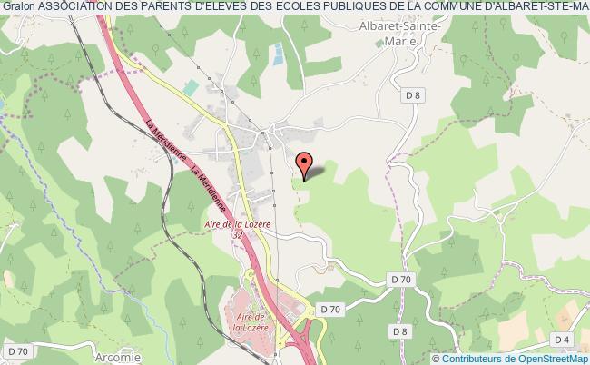 plan association Association Des Parents D'eleves Des Ecoles Publiques De La Commune D'albaret-ste-marie