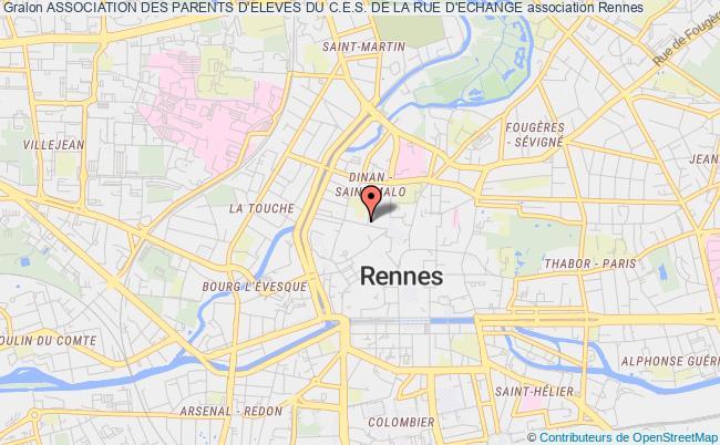 plan association Association Des Parents D'eleves Du C.e.s. De La Rue D'echange
