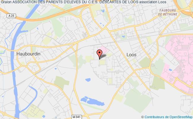 plan association Association Des Parents D'eleves Du C.e.s. Descartes De Loos LOOS CEDEX