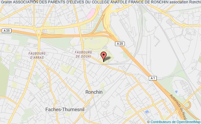plan association Association Des Parents D'eleves Du College Anatole France De Ronchin Ronchin