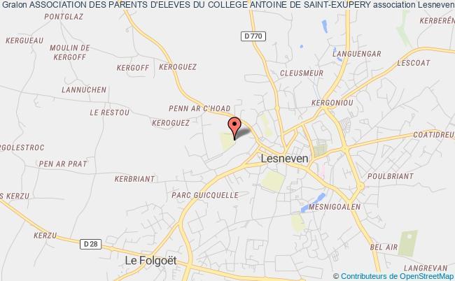 plan association Association Des Parents D'eleves Du College Antoine De Saint-exupery