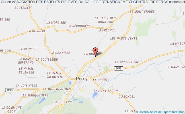 plan association Association Des Parents D'eleves Du College D'enseignement General De Percy Percy