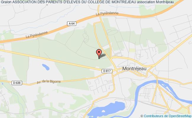plan association Association Des Parents D'eleves Du College De Montrejeau