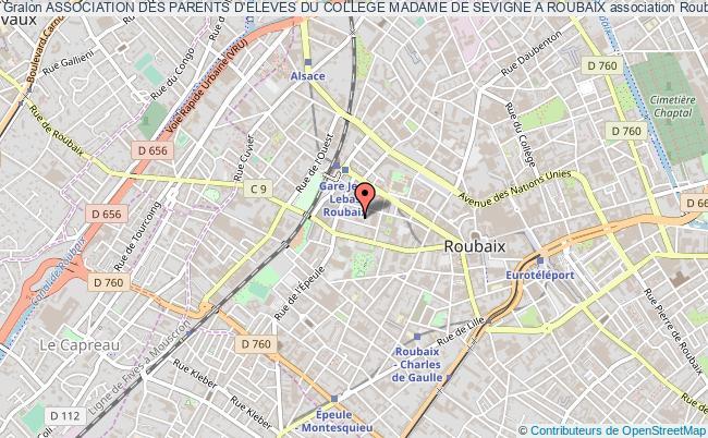 plan association Association Des Parents D'eleves Du College Madame De Sevigne A Roubaix Roubaix