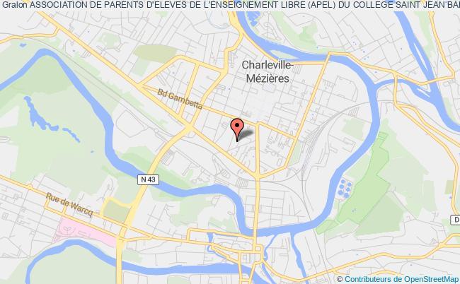 plan association Association Des Parents D'eleves Du College Saintjean-baptiste De La Salle