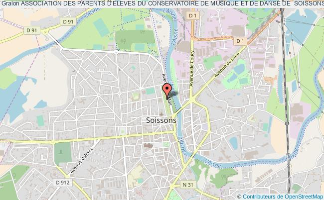 plan association Association Des Parents D'eleves Du Conservatoire De Musique Et De Danse De  Soissons Soissons