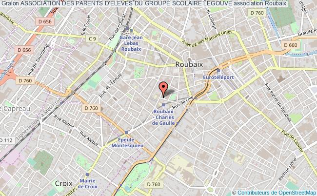 plan association Association Des Parents D'eleves Du Groupe Scolaire Legouve Roubaix