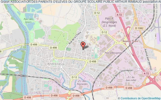 plan association Association Des Parents D'eleves Du Groupe Scolaire Public Arthur Rimbaud Andrézieux-Bouthéon