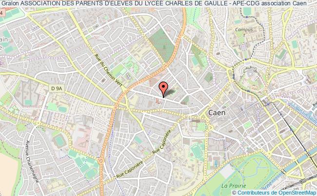 plan association Association Des Parents D'elÈves Du LycÉe Charles De Gaulle - Ape-cdg