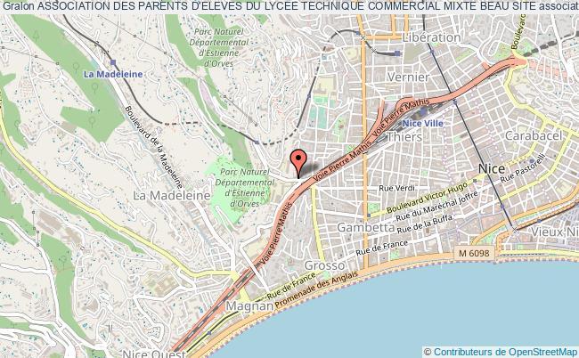 plan association Association Des Parents D'eleves Du Lycee Technique Commercial Mixte Beau Site