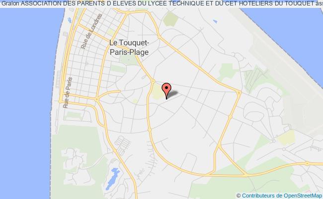 plan association Association Des Parents D Eleves Du Lycee Technique Et Du Cet Hoteliers Du Touquet Le Touquet-Paris-Plage