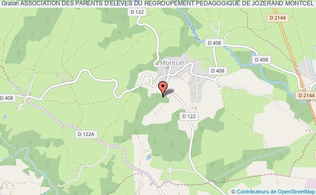 plan association Association Des Parents D'eleves Du Regroupement Pedagogique De Jozerand Montcel