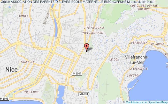 plan association Association Des Parents D'eleves Ecole Maternelle Bischoffsheim Nice