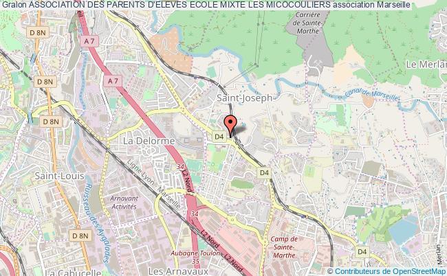 plan association Association Des Parents D'eleves Ecole Mixte Les Micocouliers Marseille
