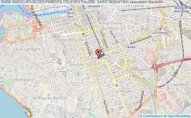 plan association Association Des Parents D'eleves Falque- Saint-sebastien Marseille